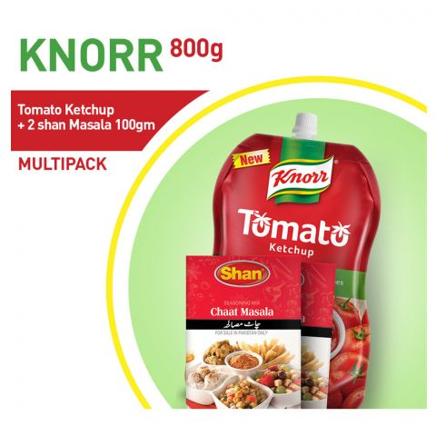 Knorr Tomato Ketchup 800gm+ 2 Shan Masala 100g Bundle