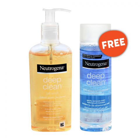 Neutrogena Deep Clean Gel Wash 200ml + FREE Deep Clean Eye Make Remover