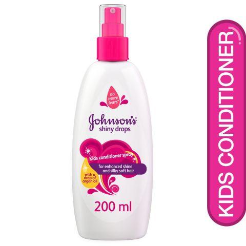 Johnson's Shiny Drops Kids Conditioner Spray, No More Tears, 200ml