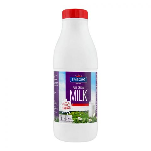 Emborg Full Cream Milk, 1 Litre, Bottle