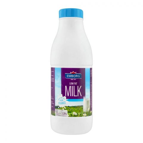 Emborg Low Fat Milk, 1 Litre, Bottle