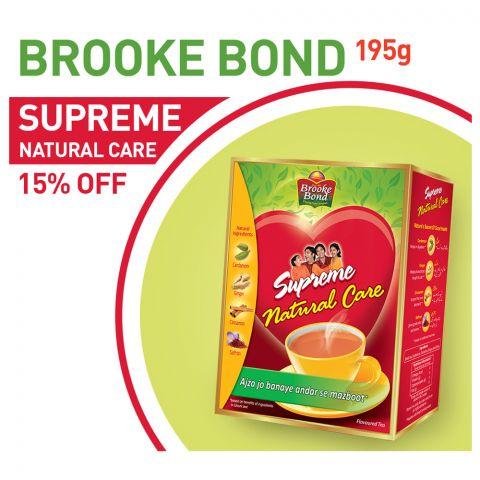 Brooke Bond Supreme Natural Care Tea 190gm 15% OFF