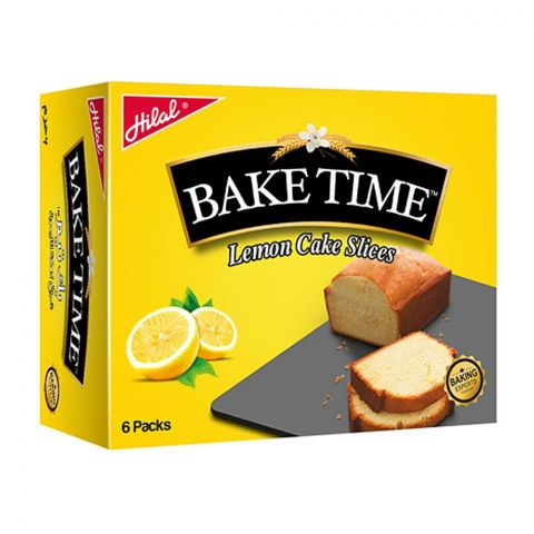 Hilal Bake Time Lemon Cake Slice, 6 Packs, 40g