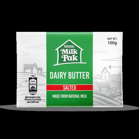 Nestle Milkpak Dairy Butter, Salted, 100g