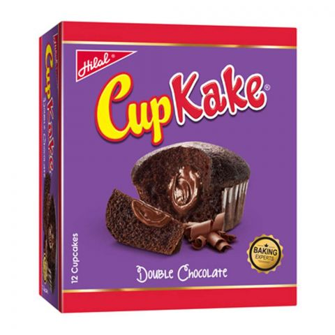 Hilal Cup Kake, Double Chocolate, 12 Pieces, 20g