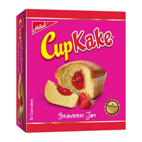 Hilal Cup Kake, Strawberry, 12 Pieces, 20g