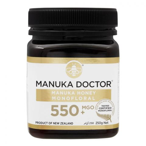 Manuka Doctor Manuka Honey, MGO 550+, 250g