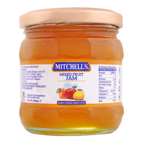Mitchell's Mixed Fruit Jam 200g