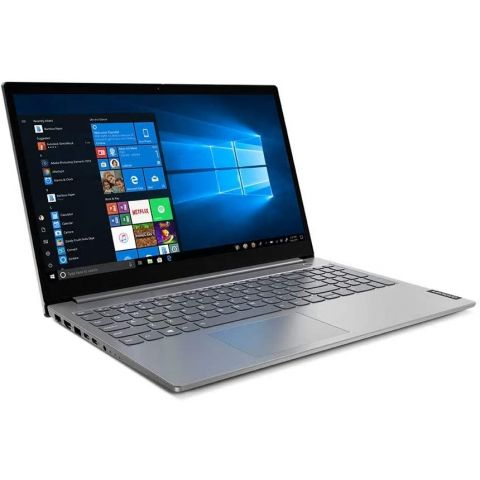 Lenovo ThinkBook 15-IIL Laptop, 10th Gen Core i5-1035G1 1.0 GHz, 8GB RAM, 1 TB HDD, 15.6 Inches FHD Display, DOS, Mineral Grey