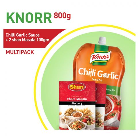 Knorr Chilli Garlic Sauce 800g + 2 Shan Masala 100g Bundle