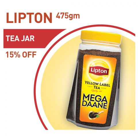 Lipton Mega Daane Tea Jar 475g 15% OFF