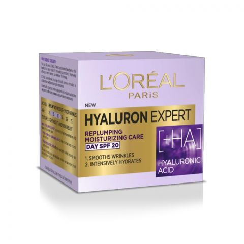 L'Oreal Paris Hyaluron Expert Replumping Moisturizing Care Day Cream, SPF 20, 50ml