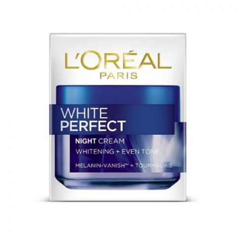 L'Oreal Paris White Perfect Night Cream, Whitening + Even Tone, 50ml