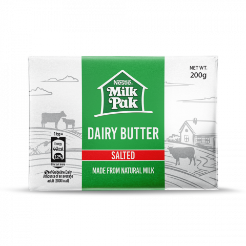 Nestle Milkpak Dairy Butter, Salted, 200g