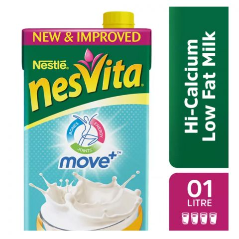 Nestle Nesvita Low Fat Milk, 1000ml, 12 Piece Carton