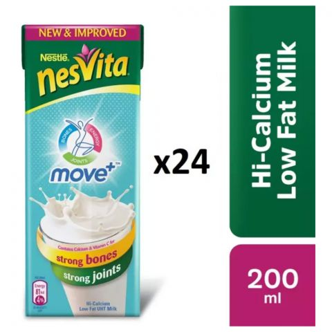 Nestle Nesvita Low Fat Milk, 200ml, 24 Piece Carton