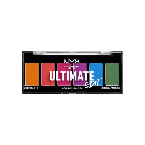 NYX Ultimate Edit Petite Shadow Palette, Brights
