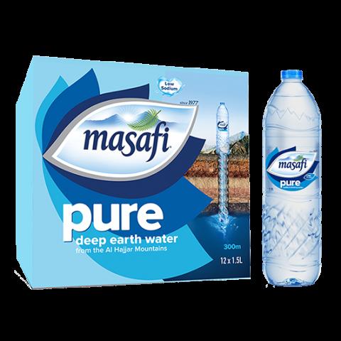 Masafi Pure Drinking Water 1.5 Liter, 12 Piece Carton