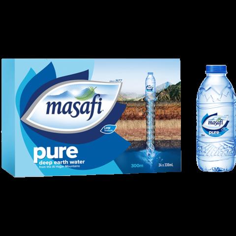 Masafi Pure Drinking Water 330ml,  24 Piece Carton