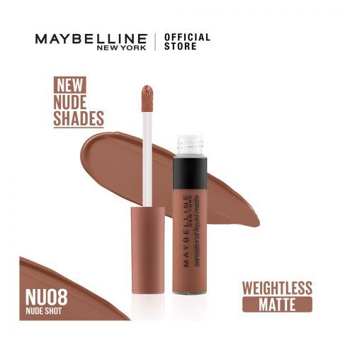 Maybelline Color Sensational Liquid Matte NU08 Nude Shot